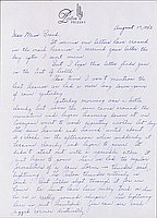 [Letter to Clara Breed from Louise Ogawa, Poston, Arizona, Augus 17, 1943]