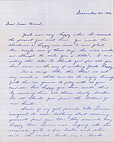 [Letter to Clara Breed from Hisako Watanabe, Poston, Arizona, December 25, 1942]
