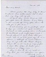 [Letter to Clara Breed from Hisako Watanabe, Poston, Arizona, November 22, 1943]