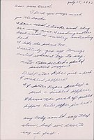 [Letter to Clara Breed to Katherine Tasaki, Poston, Arizona, July 15, 1942]