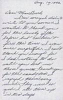 [Letter to Clara Breed from Katherine Tasaki, Poston, Arizona, August 14, 1942]