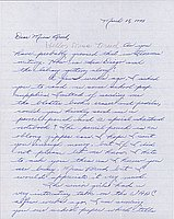[Letter to Clara Breed from Margaret Ishino, Poston, Arizona, March 18, 1943]