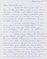 [Letter to Clara Breed from Louise Ogawa, Poston, Arizona, February 27, 1944]