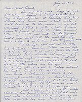 [Letter to Clara Breed from Louise Ogawa, Poston, Arizona, July 14, 1944]