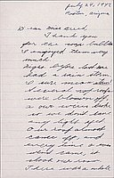[Letter to Clara Breed to Katherine Tasaki, Poston, Arizona, July 24, 1942]