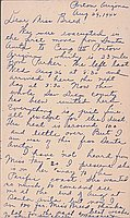[Postcard to Clara Breed from Margaret Arakawa, Poston, Arizona, August 29, 1942]