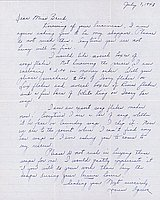 [Letter to Clara Breed from Louise Ogawa, Poston, Arizona, July 7, 1943]