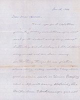 [Letter to Clara Breed from Jack Watanabe, Poston, Arizona, December 28, 1942]