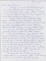 [Letter to Clara Breed from Louise Ogawa, Poston, Arizona, January 27, 1943]