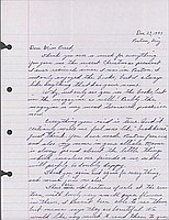 [Letter to Clara Breed from Katherine Tasaki, Poston, Arizona, December 23, 1943]