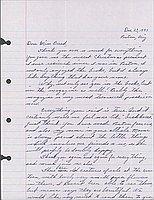 [Letter to Clara Breed from Katherine Tasaki, Poston, Arizona, December 23, 1943]