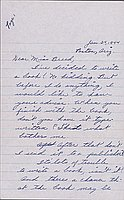 [Letter to Clara Breed from Katherine Tasaki, Poston, Arizona, January 24, 1944]