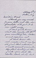 [Letter to Clara Breed from Katherine Tasaki, Poston, Arizona, February 5, 1944]