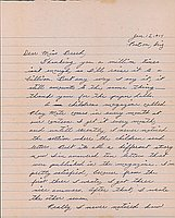 [Letter to Clara Breed from Katherine Tasaki, Poston, Arizona, January 15, 1944]