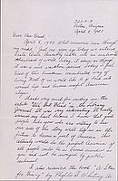 [Letter to Clara Breed from Fusa Tsumagari, Poston, Arizona, May 21, 1942]