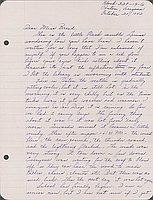[Letter to Clara Breed from Louise Ogawa, Poston, Arizona, October 20, 1942]