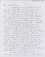 [Letter to Clara Breed from Louise Ogawa, Poston, Arizona, March 30, 1943]
