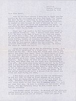 [Letter to Clara Breed from Fusa Tsumagari, Poston, Arizona, October 9, 1942]