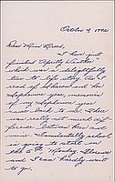 [Letter to Clara Breed from Margaret and Florence Ishino, Poston, Arizona, October 4, 1942]