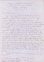[Letter to Clara Breed from Tetsuzo (Ted) Hirasaki, Arcadia, California, August 10, 1942]