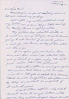 [Letter to Clara Breed from Katherine Tasaki, Poston, Arizona, November 6, 1943]