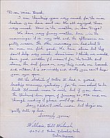 [Letter to Clara Breed from William (Bill) Watanabe, Poston, Arizona, January 22, 1943]