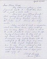 [Letter to Clara Breed from Louise Ogawa, Poston, Arizona, April 13, 1943]