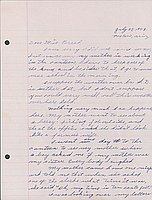 [Letter to Clara Breed from Katherine Tasaki, Poston, Arizona, July 22, 1943]