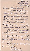 [Postcard to Clara Breed from Katherine Tasaki, Poston, Arizona, November 27, 1943]