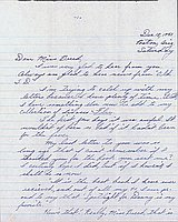 [Letter to Clara Breed from Katherine Tasaki, Poston, Arizona, December 18, 1943]