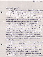 [Letter to Clara Breed from Katherine Tasaki, Poston, Arizona, May 18, 1943]