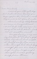 [Letter to Clara Breed from Katherine Tasaki, Poston, Arizona, February 22, 1943]