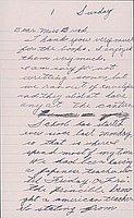 [Letter to Clara Breed from Katherine Tasaki, Poston, Arizona, October 12, 1942]