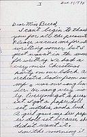[Letter to Clara Breed to Katherine Tasaki, Poston, Arizona, December 31, 1942]