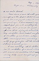 [Letter to Clara Breed from Katherine Tasaki, Poston, Arizona, August 1, 1943]