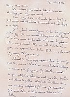 [Letter to Clara Breed from William Watanabe, Poston, Arizona, December 9, 1942]