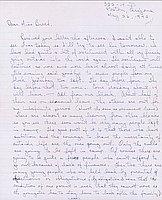 [Letter to Clara Breed from Tetsuzo (Ted) Hirasaki, Poston, Arizona, May 26, 1942]