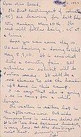 [Postcard to Clara Breed from Tetsuzo (Ted) Hirasaki, Poston, Arizona, May 6, 1943]