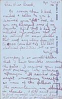 [Postcard to Clara Breed from Tetsuzo (Ted) Hirasaki, Arcadia, California, April 16, 1942]