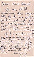 [Postcard to Miss Clara Breed from Tetsuzo (Ted) Hirasaki, Arcadia, California, March 3, 1943]