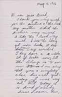 [Letter to Clara Breed from Katherine Tasaki, Arcadia, California, May 16, 1942]