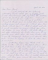 [Letter to Clara Breed from Louise Ogawa, Arcadia, California, April 23, 1942]