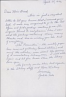 [Letter to Clara Breed from Yoshiko Kubo, Arcadia, California, April 25, 1942]