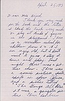 [Letter to Clara Breed from Katherine Tasaki, Arcadia, California, April 25, 1942]