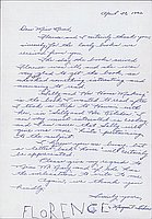[Letter to Clara Breed from Margaret and Florence Ishino, Arcadia, California, April 30, 1942]