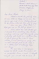 [Letter to Clara Breed from Louise Ogawa, Arcadia, California, May 7, 1942]