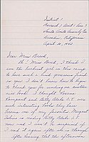 [Letter to Clara Breed from Louise Ogawa, Arcadia, California, April 30, 1942]