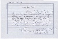 [Letter to Clara Breed from Lillian Yuriko Kawasaki, Arcadia, California, April 22, 1942]