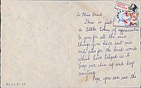 [Card to Clara Breed from Fusa Tsumagari, Poston, Arizona, ca. December 15, 1942]
