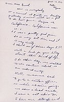 [Letter to Clara Breed from Katherine Tasaki, Poston, Arizona, June 12, 1942]